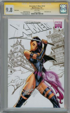 Uncanny X-Men  #510 CGC 9.8 Sketch Variant Signature Series Signed Scott Campbell Marvel comic